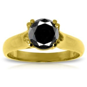 Jewelry - 14K. GOLD SOLITAIRE RING WITH 1.0 CT BLACK DIAMOND
